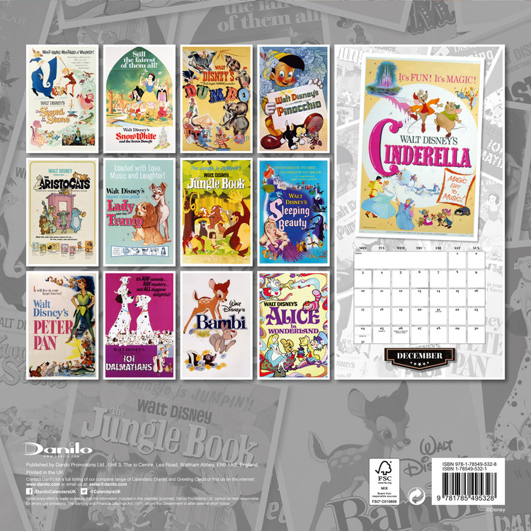 Disney Vintage - Calendars 2021 On UKposters/EuroPosters