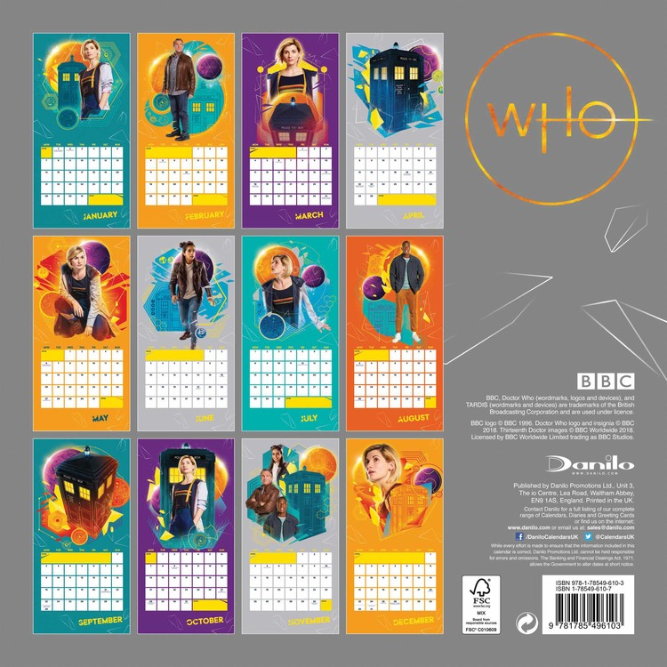 Doctor Who - Calendars 2020 on UKposters/UKposters