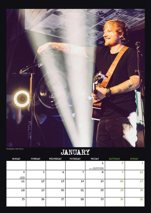 Calendar 2020 Ed Sheeran