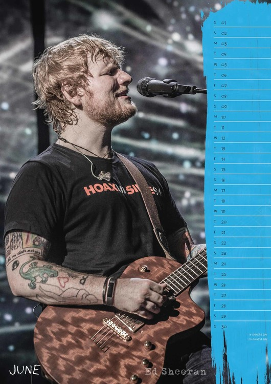 Ed Sheeran - Calendars 2020 on UKposters/EuroPosters