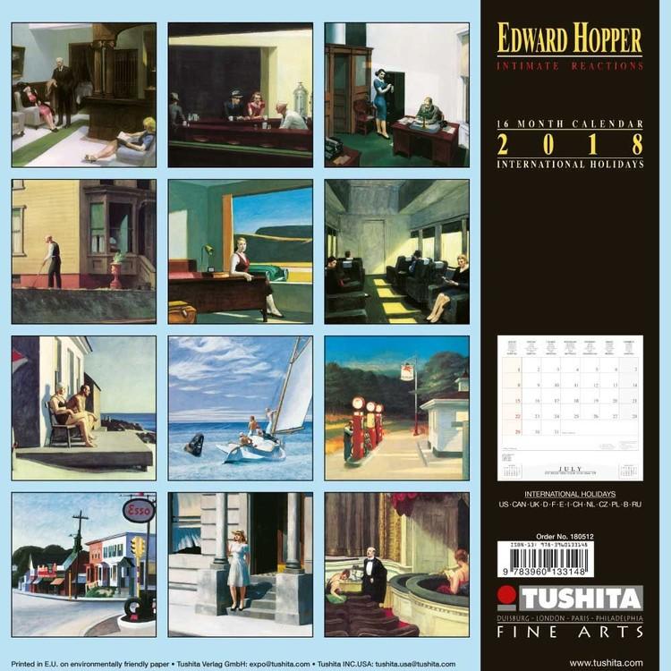 Edward Hopper Intimate Reactions Calendars 2021 on