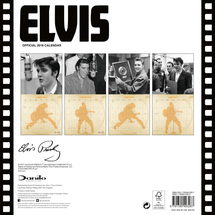 Calendar 2018  Elvis - Collectors Edition
