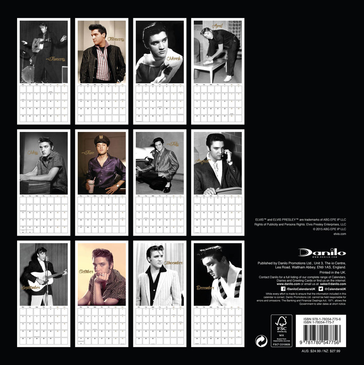 Elvis Presley - Calendars 2020 on UKposters/UKposters