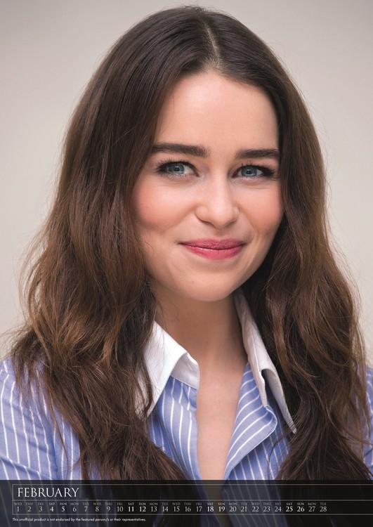 Calendar 2018 Emilia Clarke