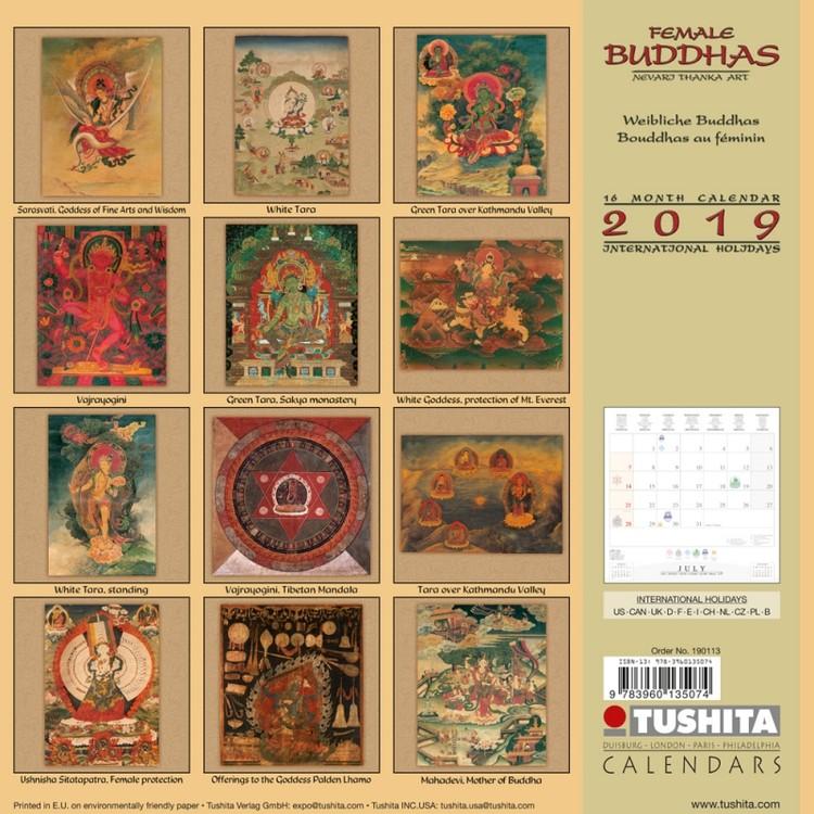 Calendar 2020 Female Buddhas