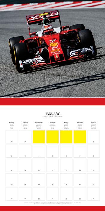 Formula Uno 2020 Calendario.Calendar 2020 Ferrari F1 2017