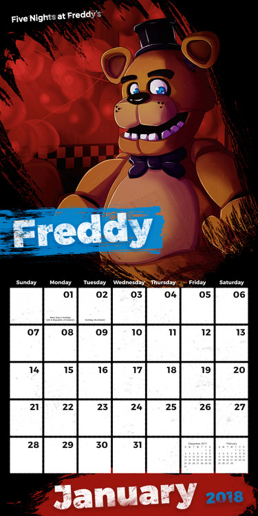 Calendario Sci 2020.Five Nights At Freddys Calendars 2020 On Ukposters