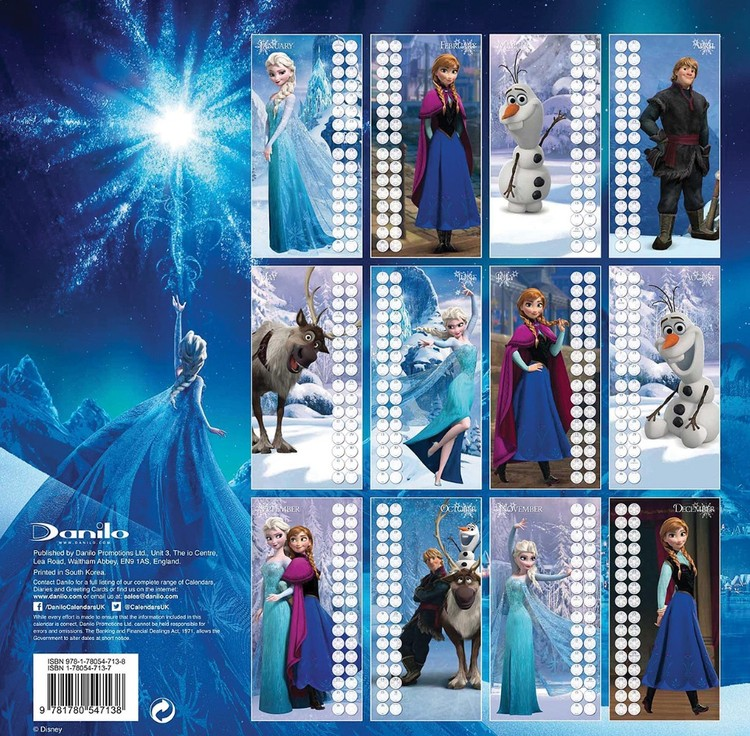 Frozen Calendars 2020 On Ukposters Ukposters
