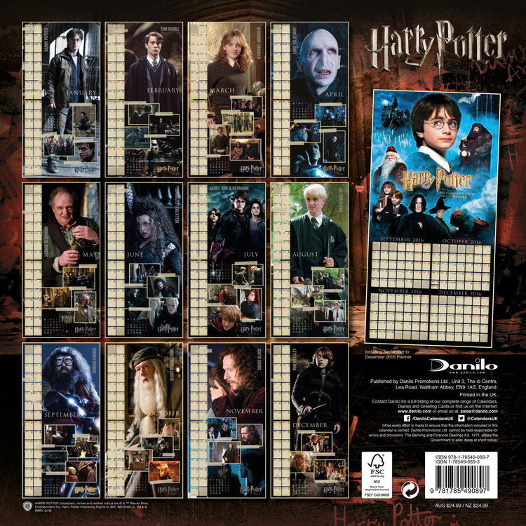 Harry Potter Calendar 2020 Harry Potter   Calendars 2020 on UKposters/Abposters.com