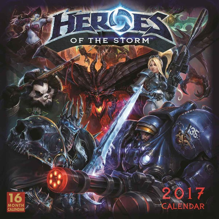 Calendar 2018 Heroes of the Storm