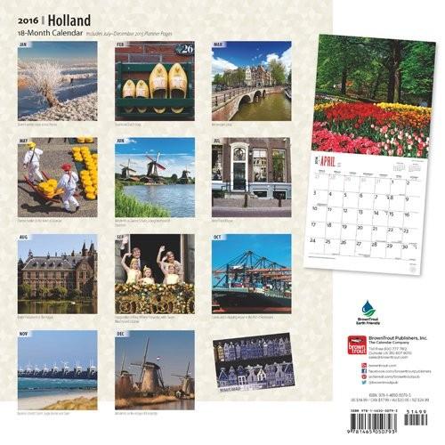 Calendar 2018 Holland