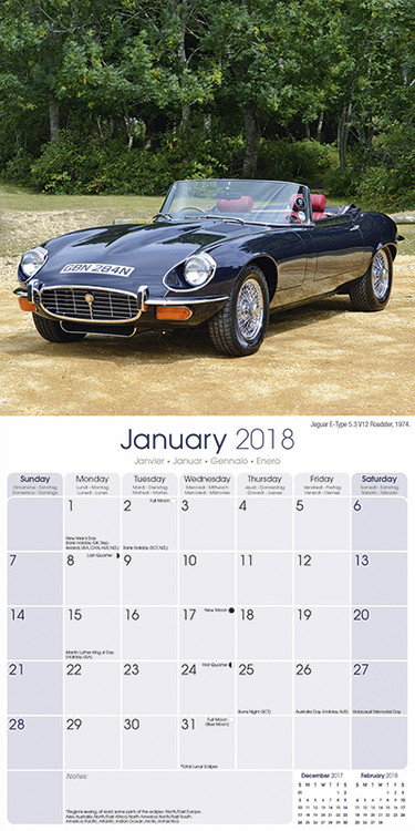 Calendrier Fun Car 2020.Calendar 2020 Jaguar