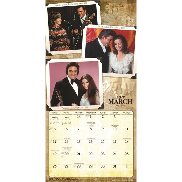 Calendar 2018 Johnny Cash