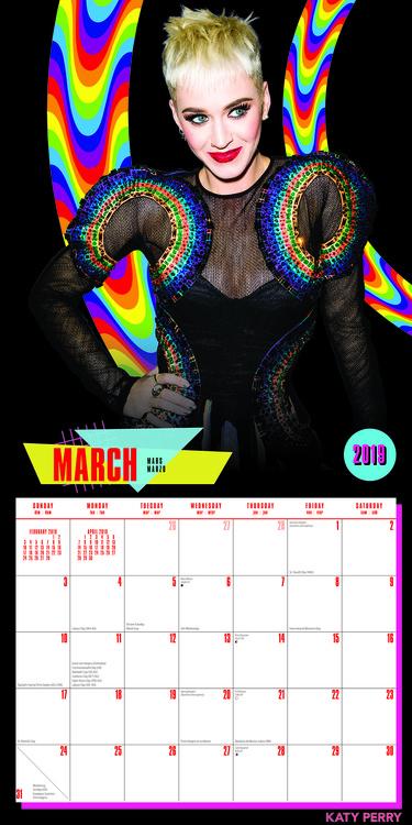Calendario Ariana Grande 2020.Calendar 2020 Katy Perry