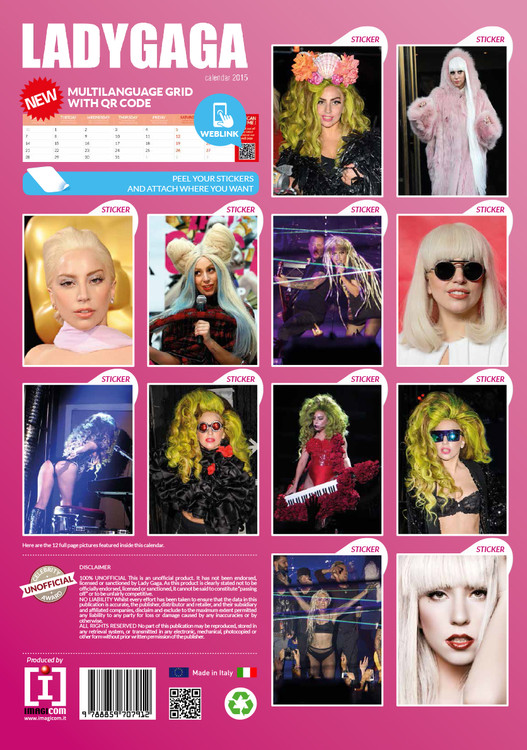 Lady Gaga   Calendars 2021 on UKposters/Abposters.com