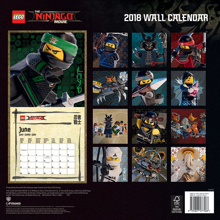 Calendrier Lego 2021 Lego Ninjago Movie   Calendars on UKposters/Abposters.com