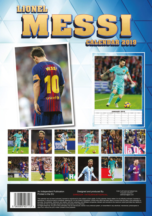 Lionel Messi   Calendars 2021 on UKposters/EuroPosters