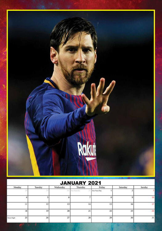 Lionel Messi   Calendars 2021 on UKposters/UKposters
