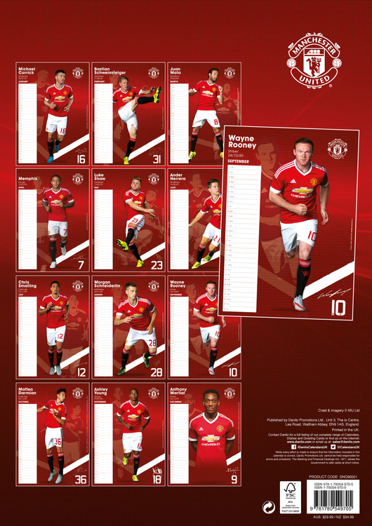 Manchester United FC   Calendars 2018 on EuroPosters