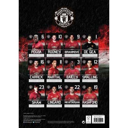 Utd Calendar 2021 Manchester Utd   Calendars on UKposters/Abposters.com