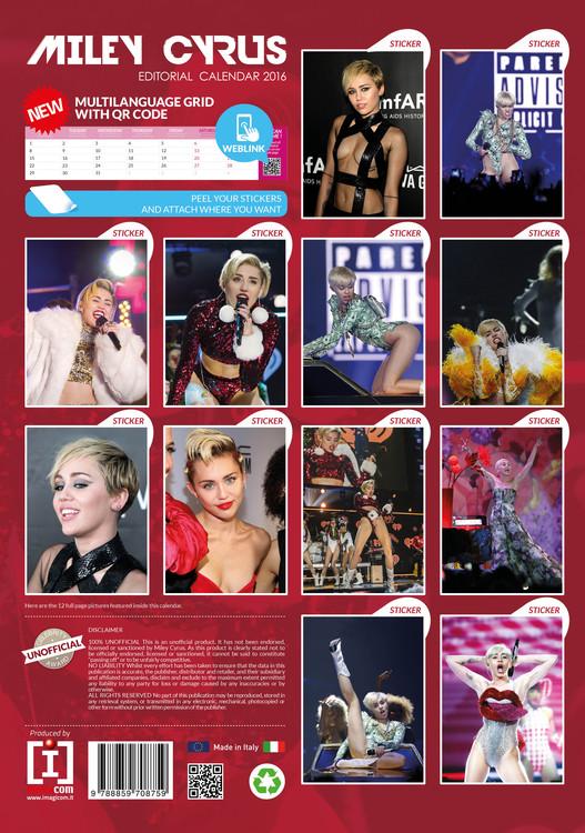 Calendar 2021 Miley Cyrus
