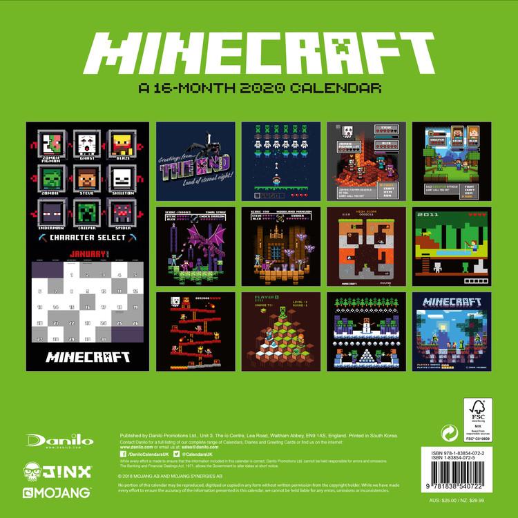 Calendar 2021 Minecraft