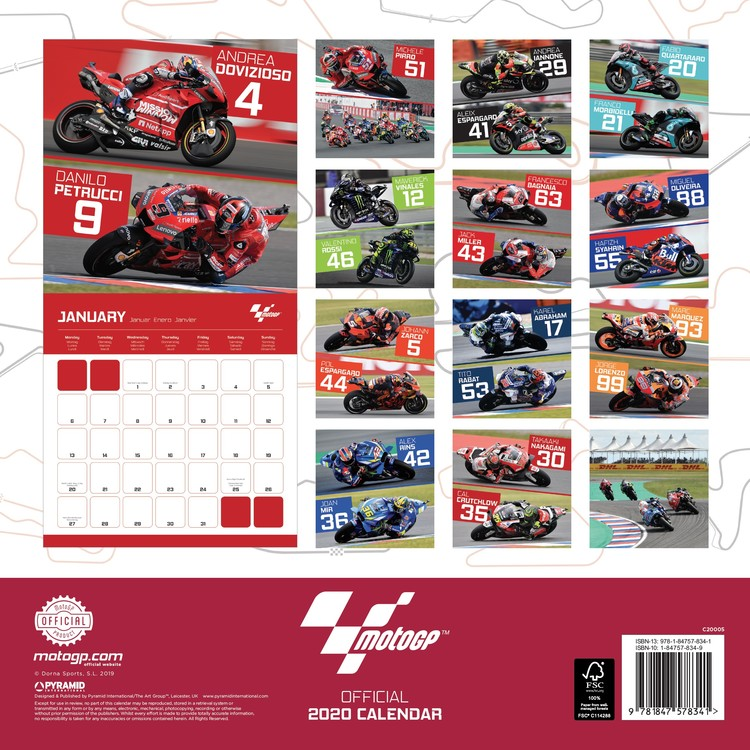 Calendrier Moto 2021 Moto GP   Calendars 2021 on UKposters/EuroPosters