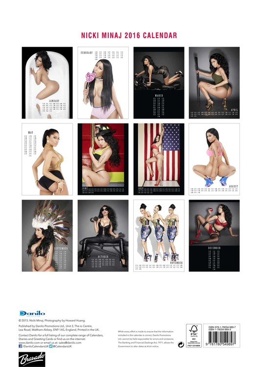 Nicki Minaj 2019 Calendar Nicki Minaj   Calendars 2020 on UKposters/Abposters.com