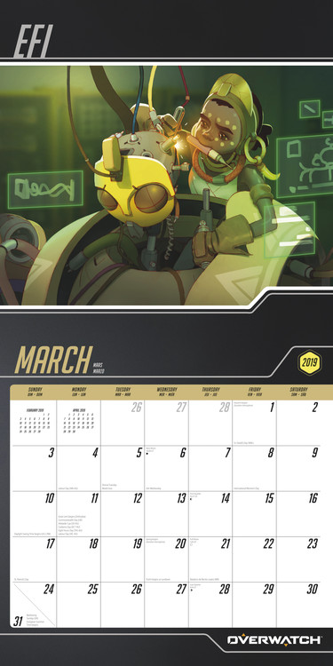 Overwatch   Calendars on UKposters/EuroPosters