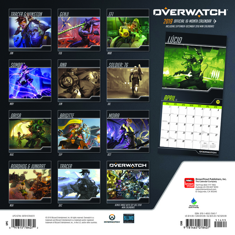 Overwatch Calendars 2021 on UKposters/EuroPosters