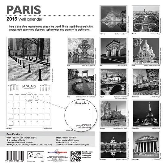 Calendar 2018  Paris