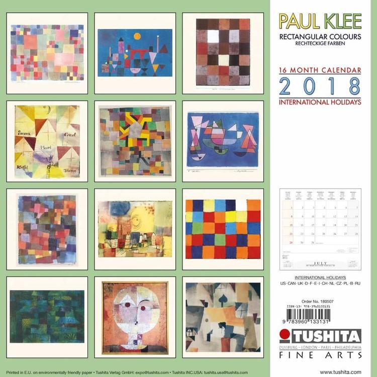 Calendario Fiere Creative 2020.Calendar 2020 Paul Klee Rectangular Colours