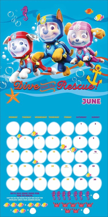 Paw Patrol - Calendars 2021 on UKposters/EuroPosters