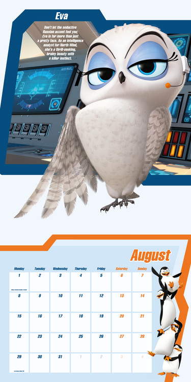 Calendar 2020 Penguins of Madagascar