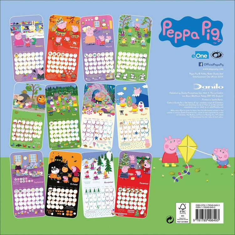 Peppa Pig - Calendars 2020 on UKposters/EuroPosters