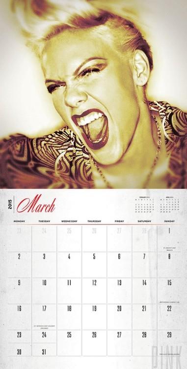 Calendar 2021 Pink - P!NK