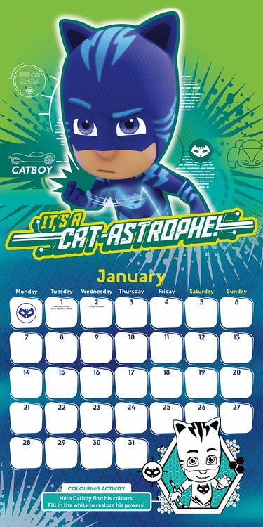 PJ Masks   Calendars on UKposters/Abposters.com