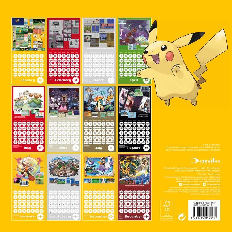 Pokémon   Calendars 2021 on UKposters/Abposters.com