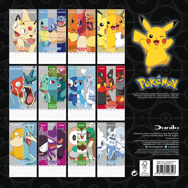 Pokemon Calendar 2020 Pokemon   Calendars 2020 on UKposters/Abposters.com