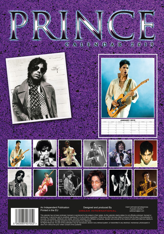 Prince Calendar 2020 Prince   Calendars 2020 on UKposters/Abposters.com