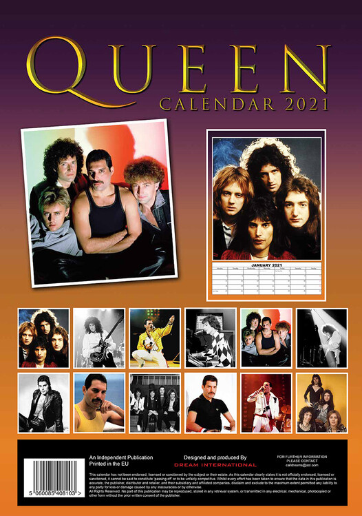 Queen   Calendars 2021 on UKposters/Abposters.com