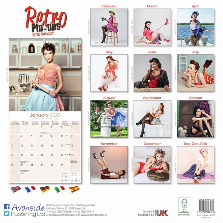 Restaurant /& Bar Theme Pictures /& Posters-Vintage Calendar and Pinups