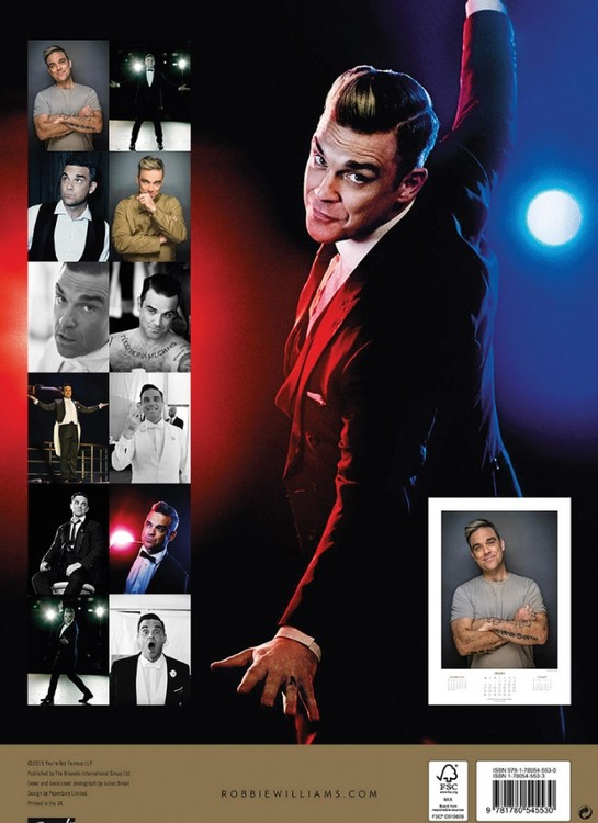 Calendar 2018  Robbie Williams