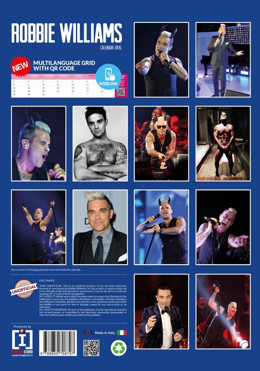 Calendar 2020 Robbie Williams