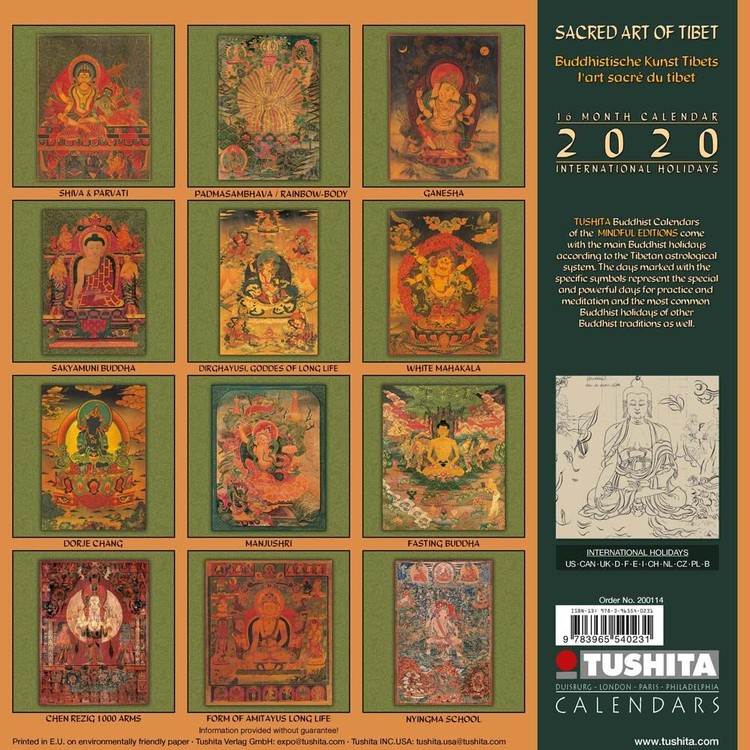 Sacred Art of Tibet   Calendars 2021 on UKposters/EuroPosters