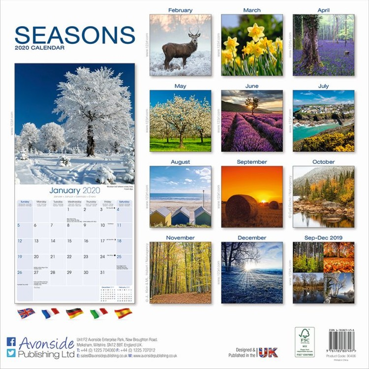 Seasons   Calendars 2021 on UKposters/EuroPosters