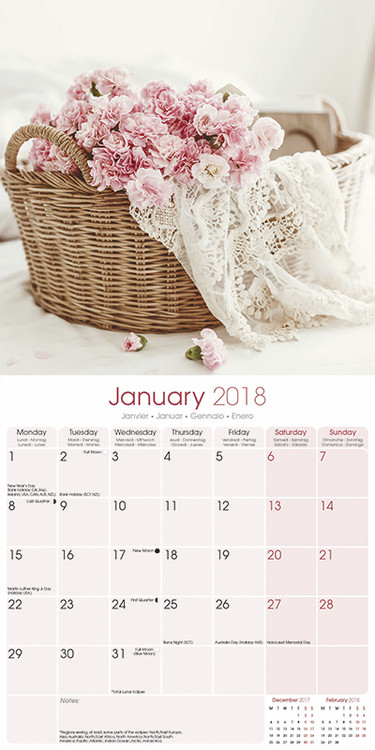 shabby chic calendars 2019 on ukposters europosters