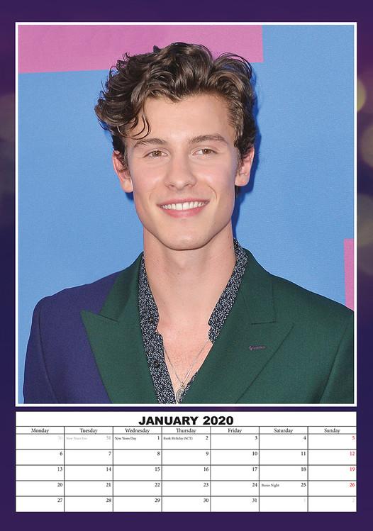 Calendario Ariana Grande 2020.Calendar 2020 Shawn Mendes