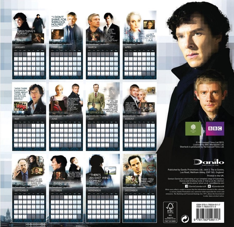 Sherlock   Calendars on UKposters/EuroPosters