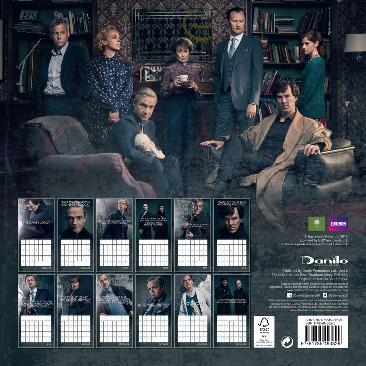 Sherlock   Calendars on UKposters/Abposters.com
